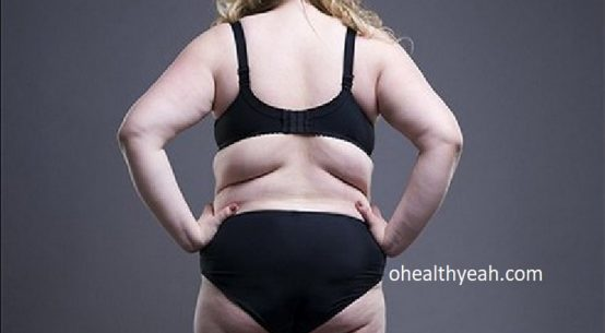 back fat, bra fat and love handles on woman