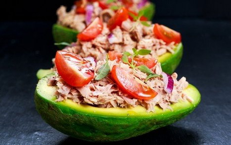 stuffed avocado one of many magnesium rich foods