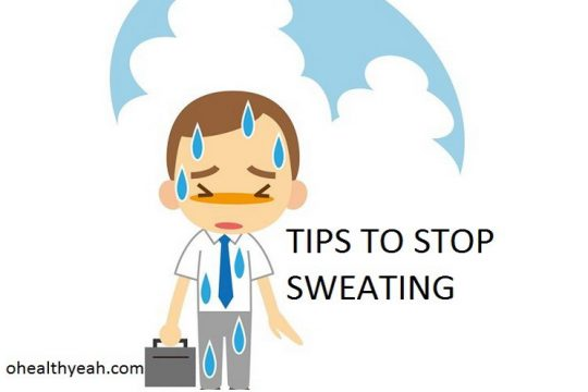 stop sweating on face