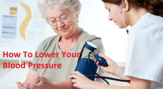 adult with high blood pressure